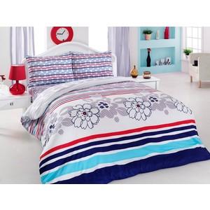 Комплект постельного белья Cotton Life 1,5 сп Marine голубой (6185)