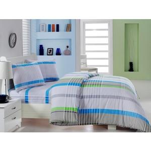 Комплект постельного белья Cotton Life 1,5 сп New Line зелёный (6164)