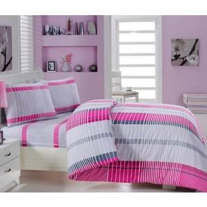 Комплект постельного белья Cotton Life 1,5 сп New Line фуксия (6164)