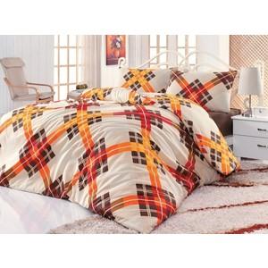 Комплект постельного белья Cotton Life 1,5 сп Smart коричневый (6163)