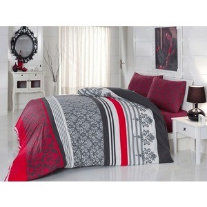 Комплект постельного белья Cotton Life 1,5 сп Armada красный (6147)