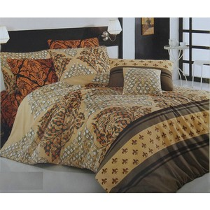 Комплект постельного белья Cotton Life 1,5 сп Night коричневый (8023)