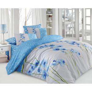 Комплект постельного белья Cotton Life 1,5 сп Orkide голубой (8018)