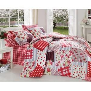Комплект постельного белья Cotton Life 1,5 сп Patchwork красный (8022)