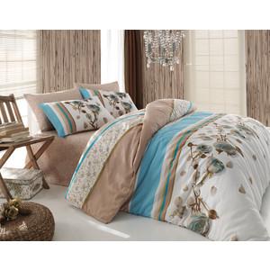 Комплект постельного белья Cotton Life 1,5 сп Rosa голубой (8019)