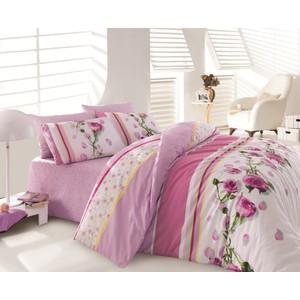 Комплект постельного белья Cotton Life 1,5 сп Rosa лиловый (8019)