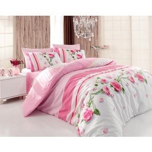 где купить Комплект постельного белья Cotton Life 1,5 сп Rosa розовый (8019) по лучшей цене
