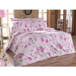 где купить Комплект постельного белья Cotton Life 1,5 сп Roselinda розовый (6065) по лучшей цене