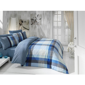 Комплект постельного белья Cotton Life 2-х сп Berry голубой (6420)