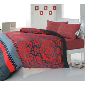 комплект постельного белья cotton life 2 х сп amore 7996 Комплект постельного белья Cotton Life 2-х сп Damask красный (5910)