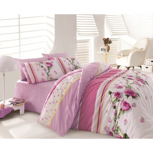 где купить Комплект постельного белья Cotton Life 2-х сп Rosa лиловый (8010) по лучшей цене