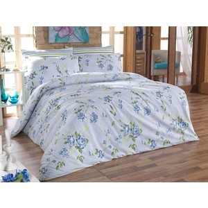 Комплект постельного белья Cotton Life 2-х сп Rosalina голубой (6143)