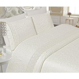 Комплект постельного белья Do and Co Евро Dantella (8851) кремовый