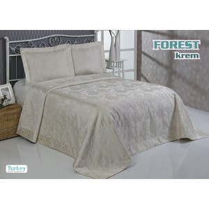 Покрывало Do and Co Forest 240х260 + 2 наволочки 50х70 кремовый (8740)