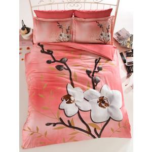 Комплект постельного белья Istanbul Евро Orhids (6119) персиковый