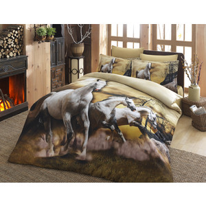 Комплект постельного белья Istanbul Евро Horses (7960)