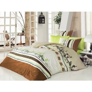 Комплект постельного белья Istanbul Евро Life (6135) коричневый