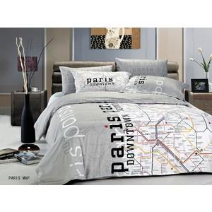 Комплект постельного белья Le Vele Евро Paris Map (7757)
