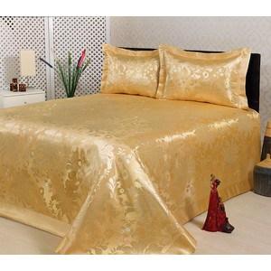 Покрывало Nazsu Cinar 240х260 + 2 наволочки 50х70 золотой (5827)