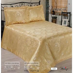 Покрывало Nazsu Damask 240х260 + 2 наволочки 50х70 золотой (8279)