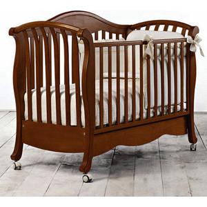 Кроватка Bambolina Divina 125х65 темный орех цена
