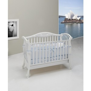 Кроватка Bambolina Divina Glamour Cristallo 125х65 белый