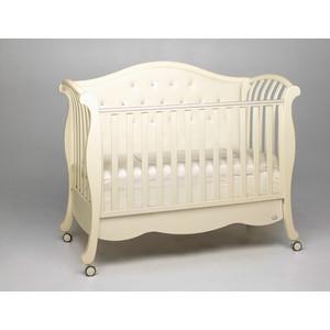 Кроватка Bambolina Divina Lux Cristallo 125х65 слоновая кость