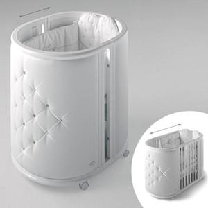 все цены на Кроватка-колыбель Bambolina Perla 125х65 белый онлайн