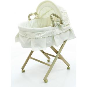Корзина Fiorellino Luna Elegant плетеная с капюшоном колыбели fiorellino корзина плетёная с капюшоном premium baby