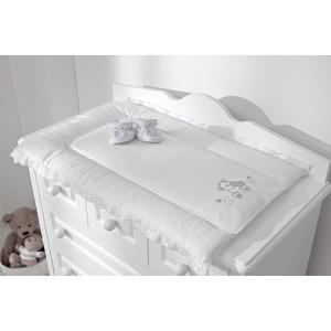 Покрывало Fiorellino матрасик Lovely Bear для пеленания 50х80 см белый