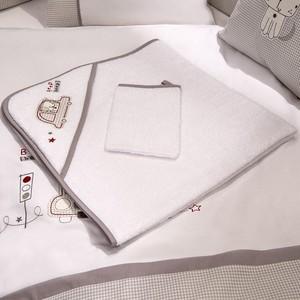 Полотенце-уголок Fiorellino Beep Beep 90х90 см и варежка