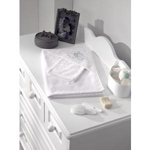 Полотенце-уголок Fiorellino Luna Chic 90х90 см и варежка