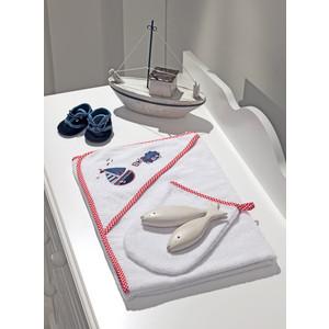 Полотенце-уголок Fiorellino Marine 90х90 см и варежка