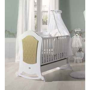 Кроватка Micuna Alexa BIG Relax 140*70 white/gold кроватка micuna valeria big relax 140 70 white