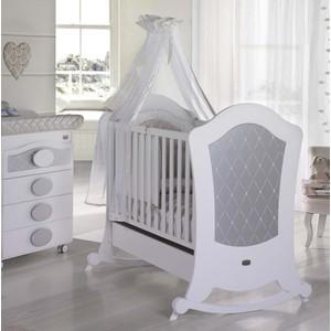 Кроватка Micuna Alexa Relax 120*60 white/silver кроватка micuna valeria relax chocolate