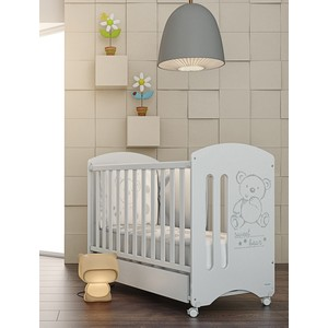 Кроватка Micuna Sweet Bear 120*60 white с матрацем CH-620
