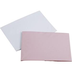 Набор простыней Micuna Harmony Single и Harmony Plus 120*60 2шт ТХ-1759 white/pink