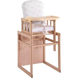 Стульчик для кормления Micuna T-950 natural pink bears