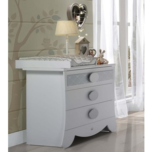 Фото Тумба Micuna Alexa CO-1644 white/silver