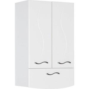 Шкаф навесной Aquanet Моника 50, 2 дверцы, 1 ящик, белый (186780) тумба под раковину aquanet верона 58 белый напольная 1 ящик 2 дверцы 182507