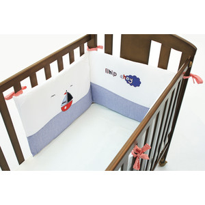 Бортик Funnababy Marine короткий для кровати 120*60 см пледы funnababy marine
