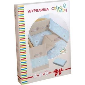 Комплект белья Ceba Baby с аксессуарами Layette Birdies brown W-816-046-120