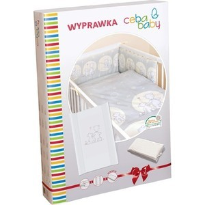 Комплект белья Ceba Baby с аксессуарами Layette Papa Bear grey W-816-004-260