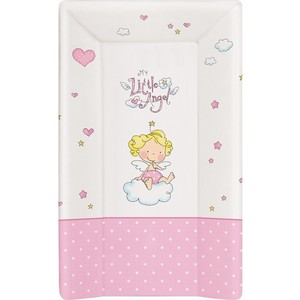Матраc пеленальный Ceba Baby 70 см с изголовьем на кровать 120*60 см Little Angel white-pink W-201-008-007