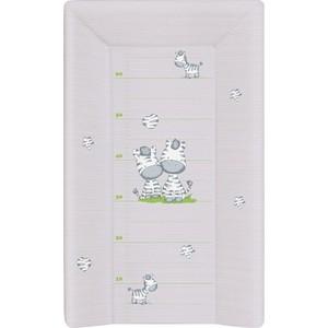 Фотография товара матраc пеленальный Ceba Baby 70 см с изголовьем на кровать 120*60 см Zebra grey W-201-002-260 (573826)