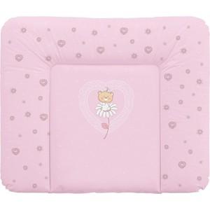 Матраc пеленальный Ceba Baby 70*85 см мягкий на комод Daisies pink W-134-043-130