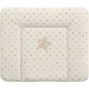 Фотография товара матраc пеленальный Ceba Baby 70*85 см мягкий на комод Stars beige W-134-066-111 (573841)