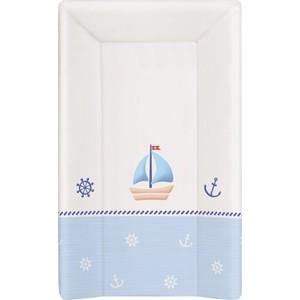 Матраc пеленальный Ceba Baby 80 см с изголовьем на кровать 125*65 см Marine white-blue W-211-010-009