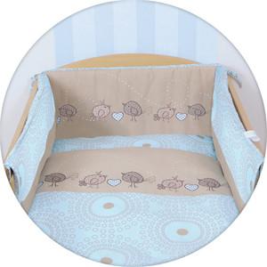 Постельное белье Ceba Baby 3 пр. Birdies brown Lux принт W-800-046-231-1