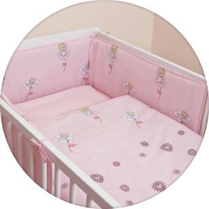 Постельное белье Ceba Baby 3 пр. Daisies pink Lux принт W-800-043-130-1